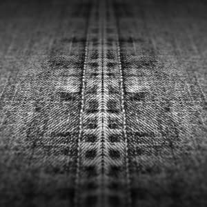 Straight seam on worn denim  representing Perineum  Grey