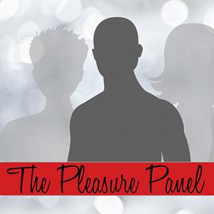 Pleasure Panel Log with grey torso outline on a background of feint grey torso outlines